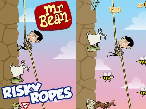 Hra Mr. Bean: Risky ropes   oddechove hry androidhry