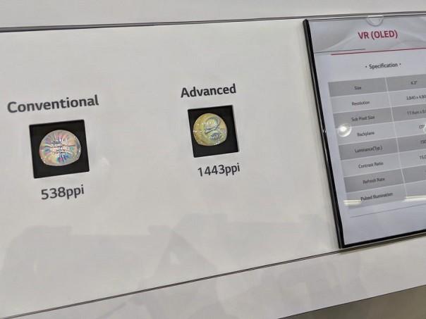 Google a LG displej odhalili OLED displej pro VR brýle s 1443ppi a 120Hz   novinky