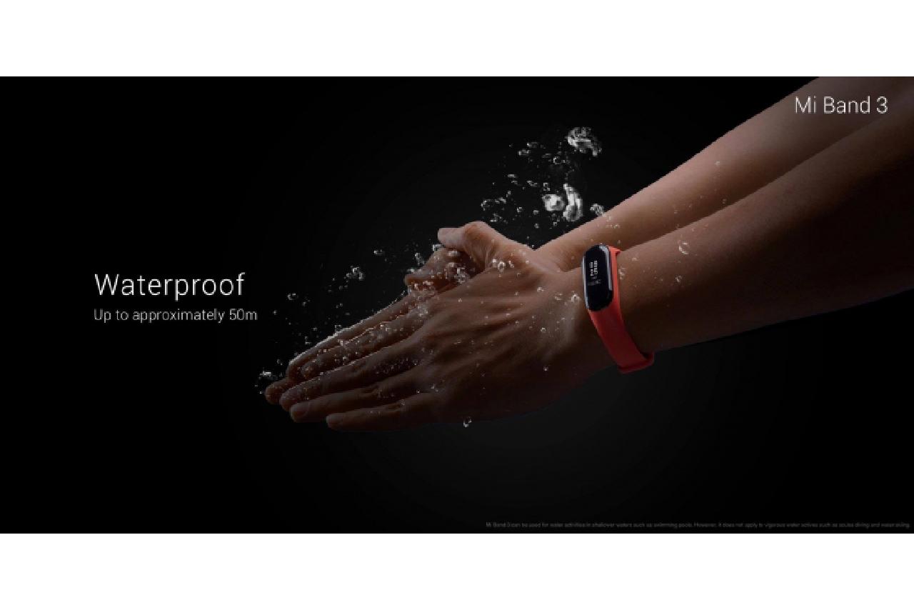 Xiaomi Mi Band 3  jsou voděodolné