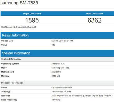 Samsung Galaxy Tab S4 viděn v testu se Snapdragon 835   novinky