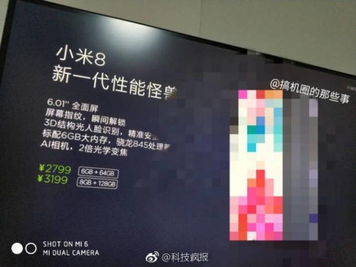 Xiaomi Mi 8 za 400€
