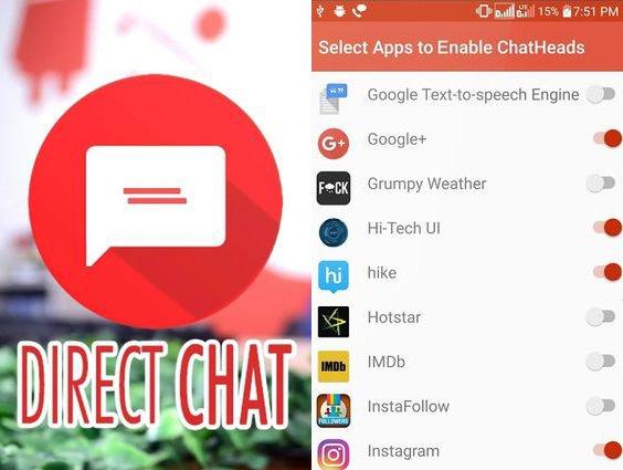 Aplikace DirectChat