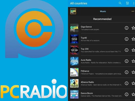 Aplikace Radio Online   PCRADIO
