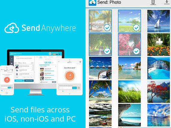 Send anywhere: File transfer