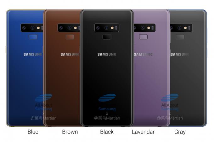Samsung Galaxy Note 9 barevné kombinace odhaleny   novinky