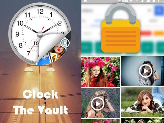 Aplikace Clock - The vault: Secret photo video locker