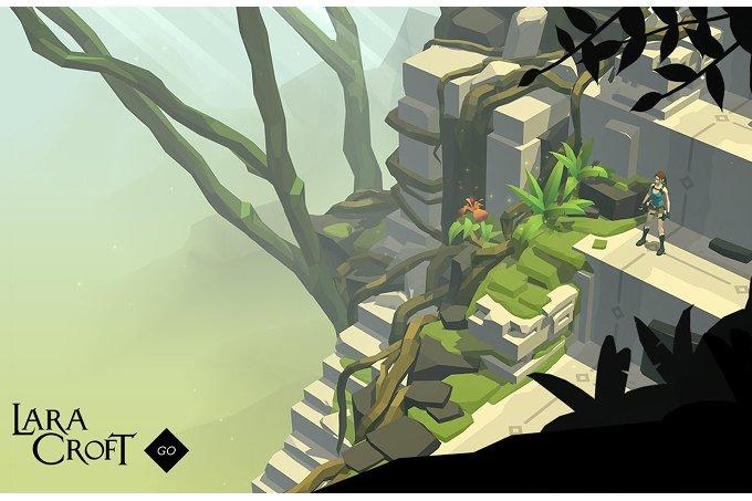 Android hra Lara Croft Go