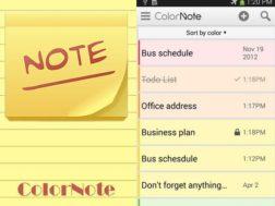 Aplikace ColorNote