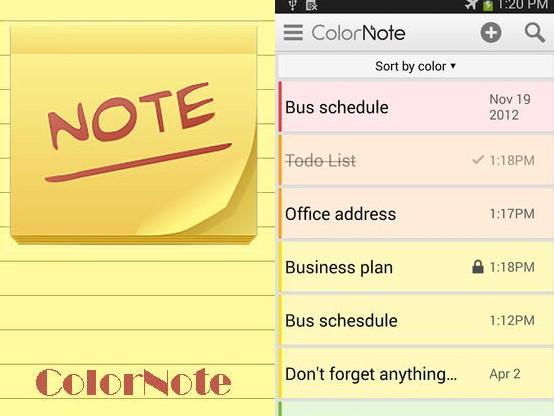 Aplikace ColorNote   nastroje a pomucky android androidaplikace
