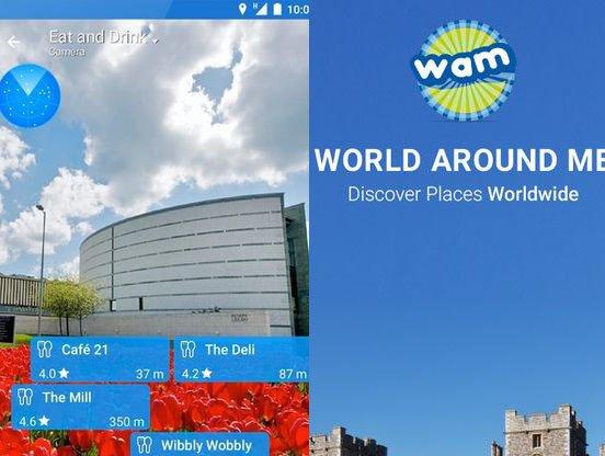 Aplikace World Around Me   nastroje a pomucky android androidaplikace