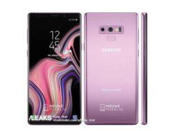 Odhalená fialová barva Samsung Galaxy Note 9