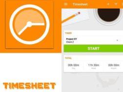 Aplikace Timesheet   Time Tracker