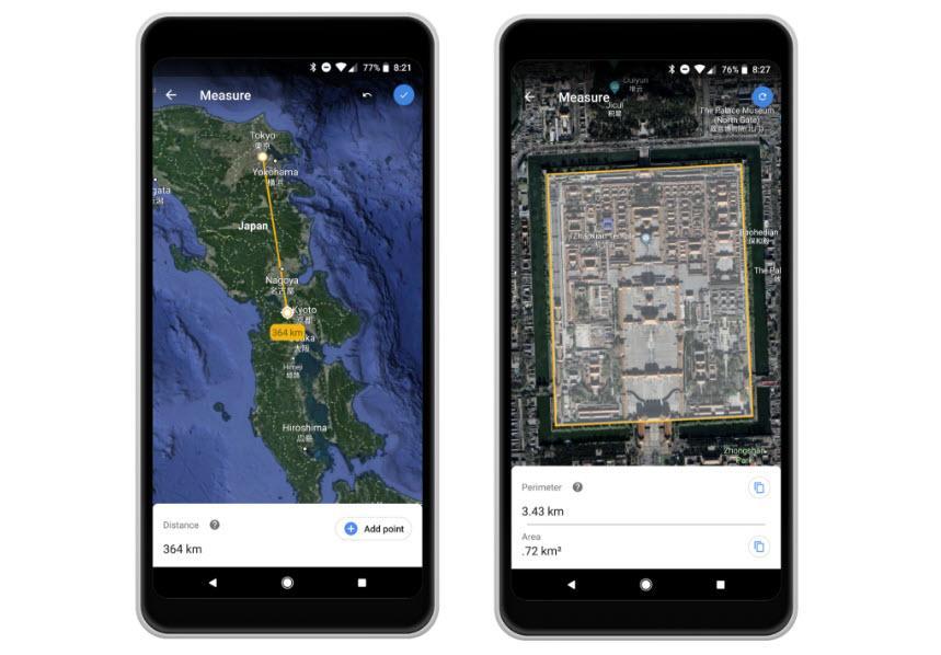 Google Earth Measure   novinka v Google Earth   nastroje a pomucky android novinky androidaplikace