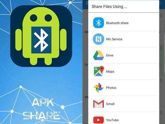 Aplikace Bluetooth App Sender APK Share