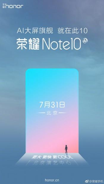 Honor Note 10 se představí 31. července