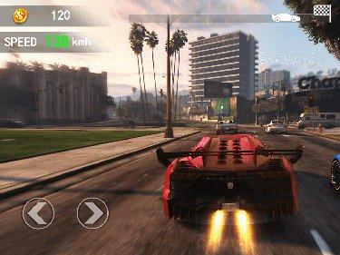 Fast car driving