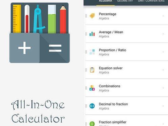 Aplikace All In One Calculator Free