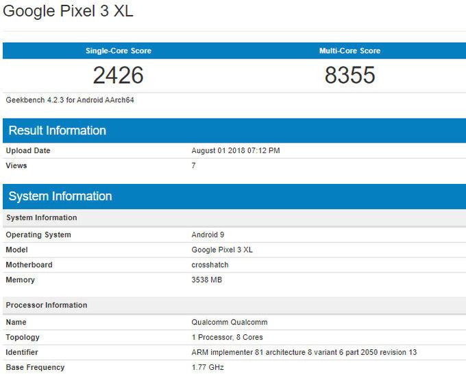 Pixel 3 XL v testu