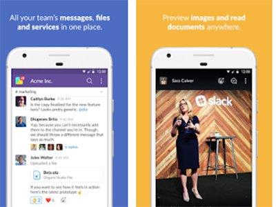 Android aplikace Slack