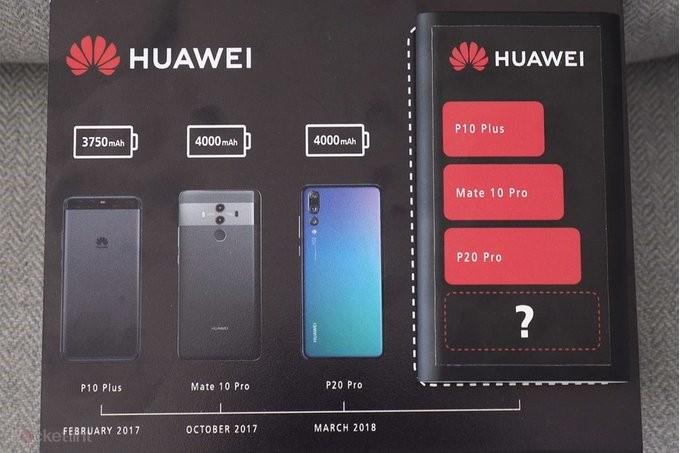 Huawei Mate 20 Pro potvrzen s velkou baterií 4000mAh
