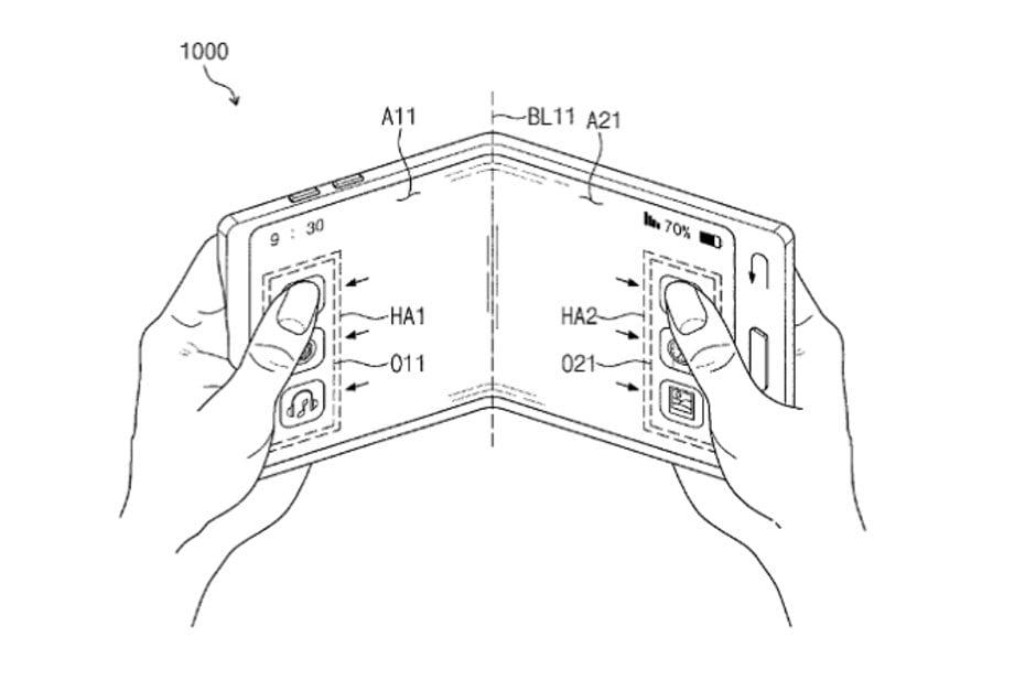 Samsung OLED flexibilní
