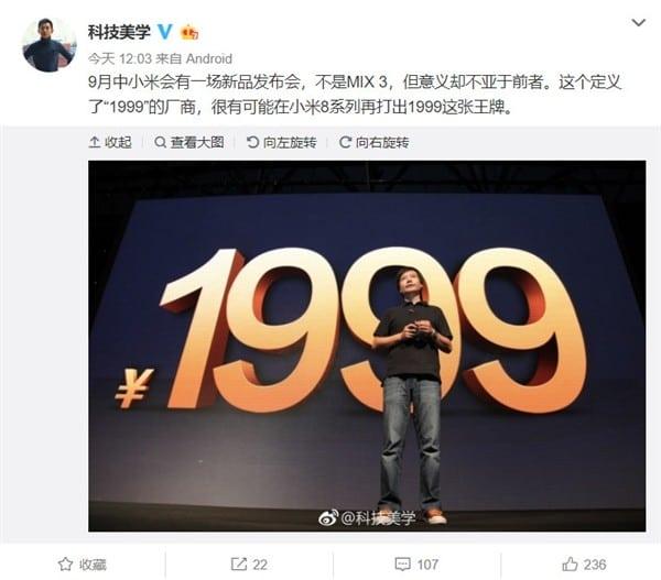 Xiaomi odhalí další high-end telefon