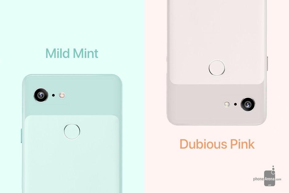 Barevná kombinace telefonu Google Pixel 3