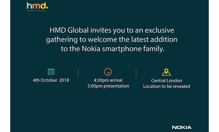 Nokia 7.1 Plus pozvánka do Londýna 4. října