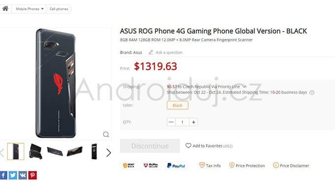 Herní telefon Asus ROG
