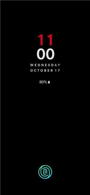 OnePlus 6T snímač otisků prstů v displeji