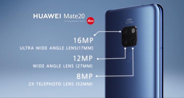 Huawei Mate 20 fotoaparát
