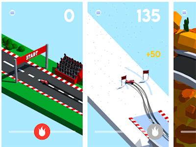 Android arkádová hra Drift ke stažení