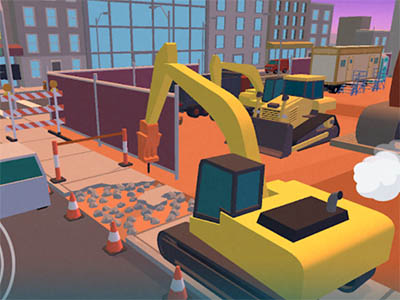 Android oddechová hra Dig In: An Excavator Game