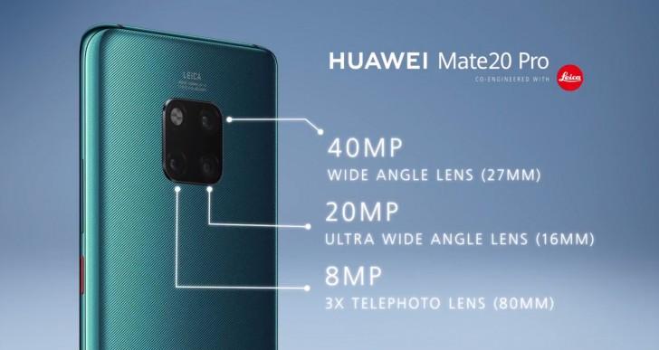 Huawei Mate 20 Pro fotoaparát