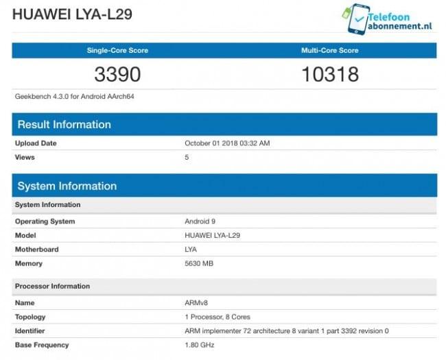 Huawei Mate 20 s Kirin 980 v testu Geekbench