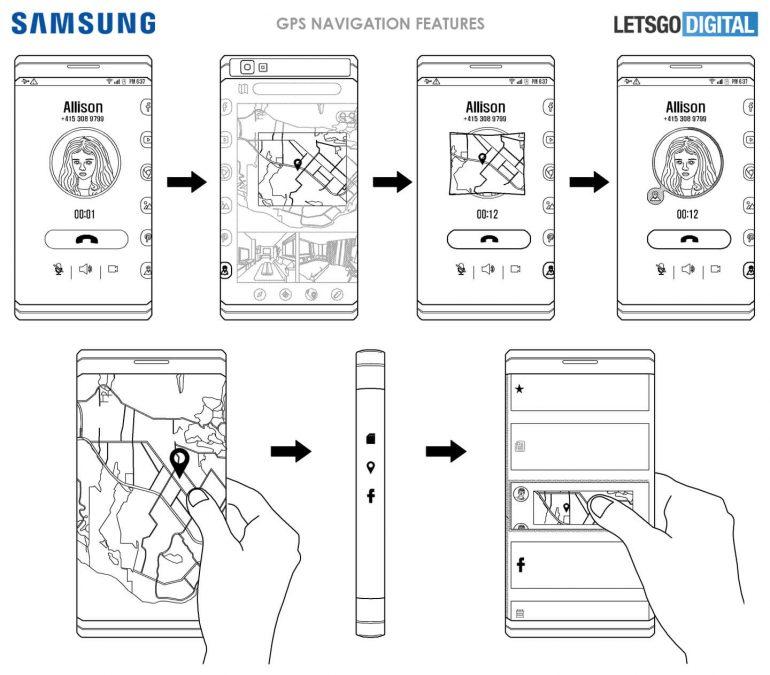 Oboustranný displej Samsung