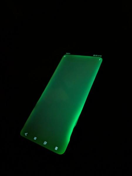 Huawei zelený displej