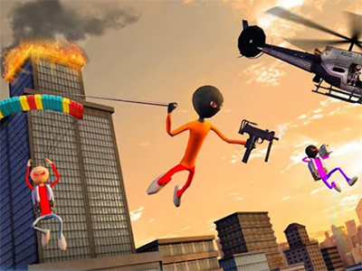 Android akční hra Stickman Mafia Gangster Gang Wars
