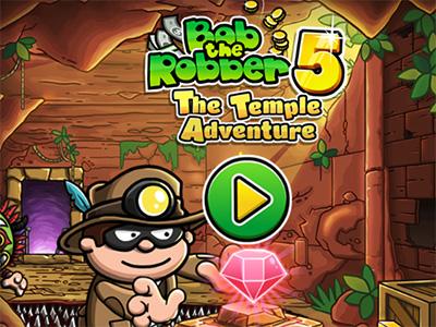 Android akční hra Bob The Robber 5: Temple Adventure