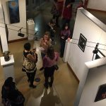 Aerial view of gallery opening for Dark & Obscure exhibition