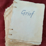 Grief. Handmade book by Ingrid Porter from Dark & Oscure exhibition