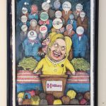 Hillary for Hillary America. Artwork by Adam Sheetz from Political BS exhibition.
