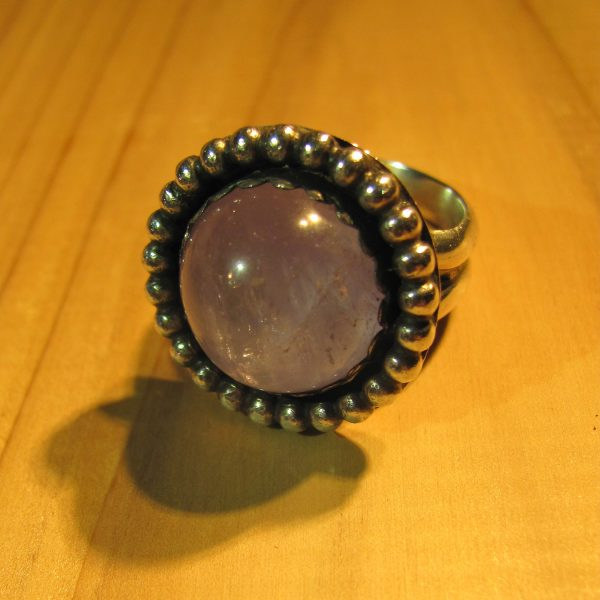 Fox and Moon Co. - Amethyst Crystal Ball Ring
