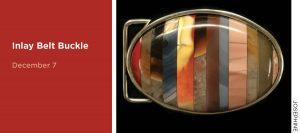 Inlay Belt Buckle, December 7, image of a belt buckle