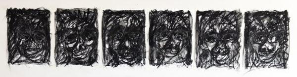 "John Ball, ""Frustration 1-6"" - Stick Charcoal on 60lb Bienfang Drawing Paper"