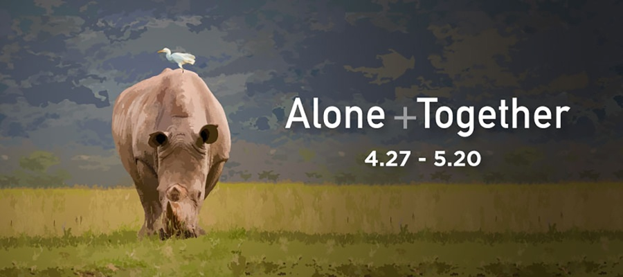 Alone and Together gallery graphic. April 27th thru May 20th