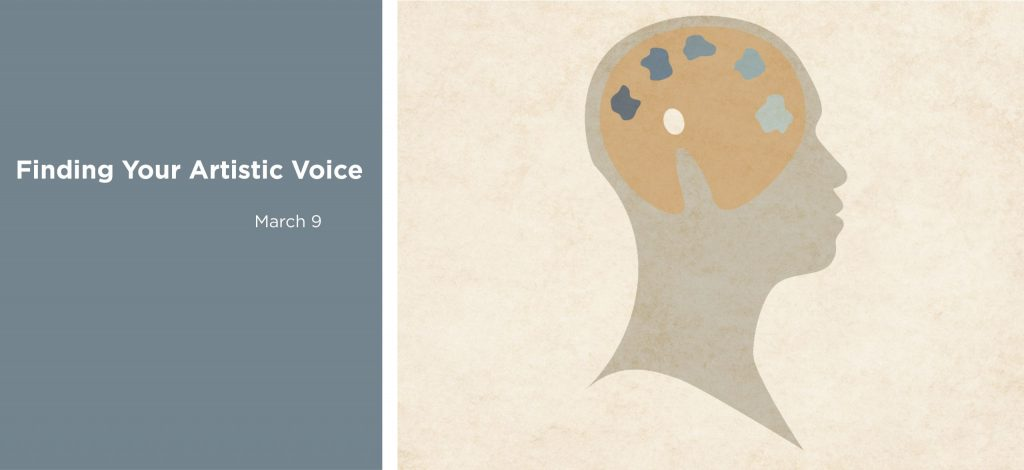Finding your artistic voice workshop with Art Coaching for You, March 9