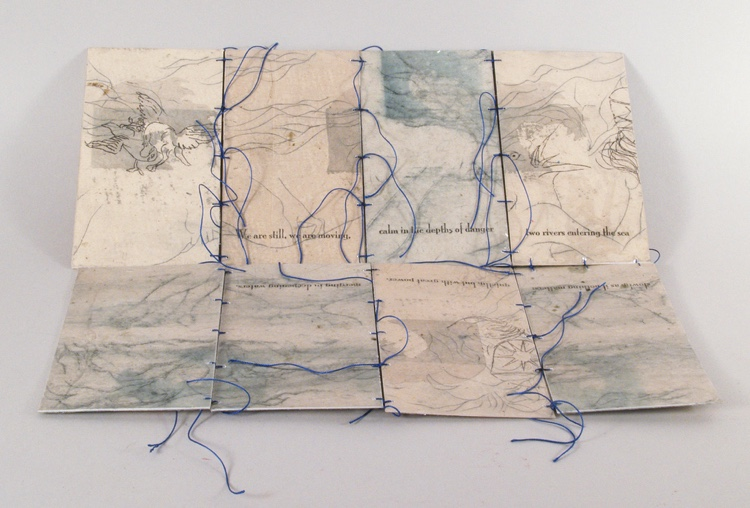 Two Rivers. Artwork from Narrative Threads exhibition