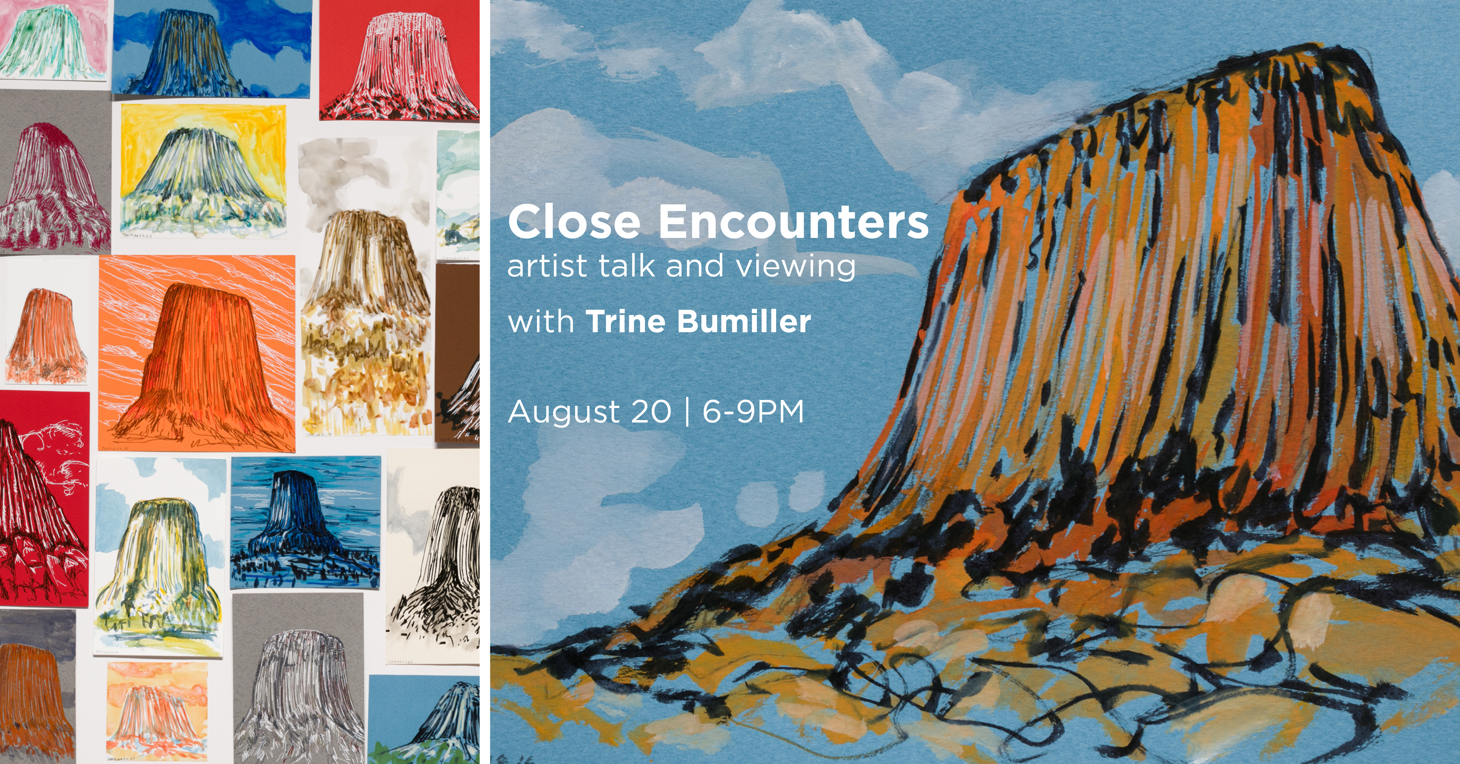 Close Encounters artist demo and movie viewing with Trine Bumiller