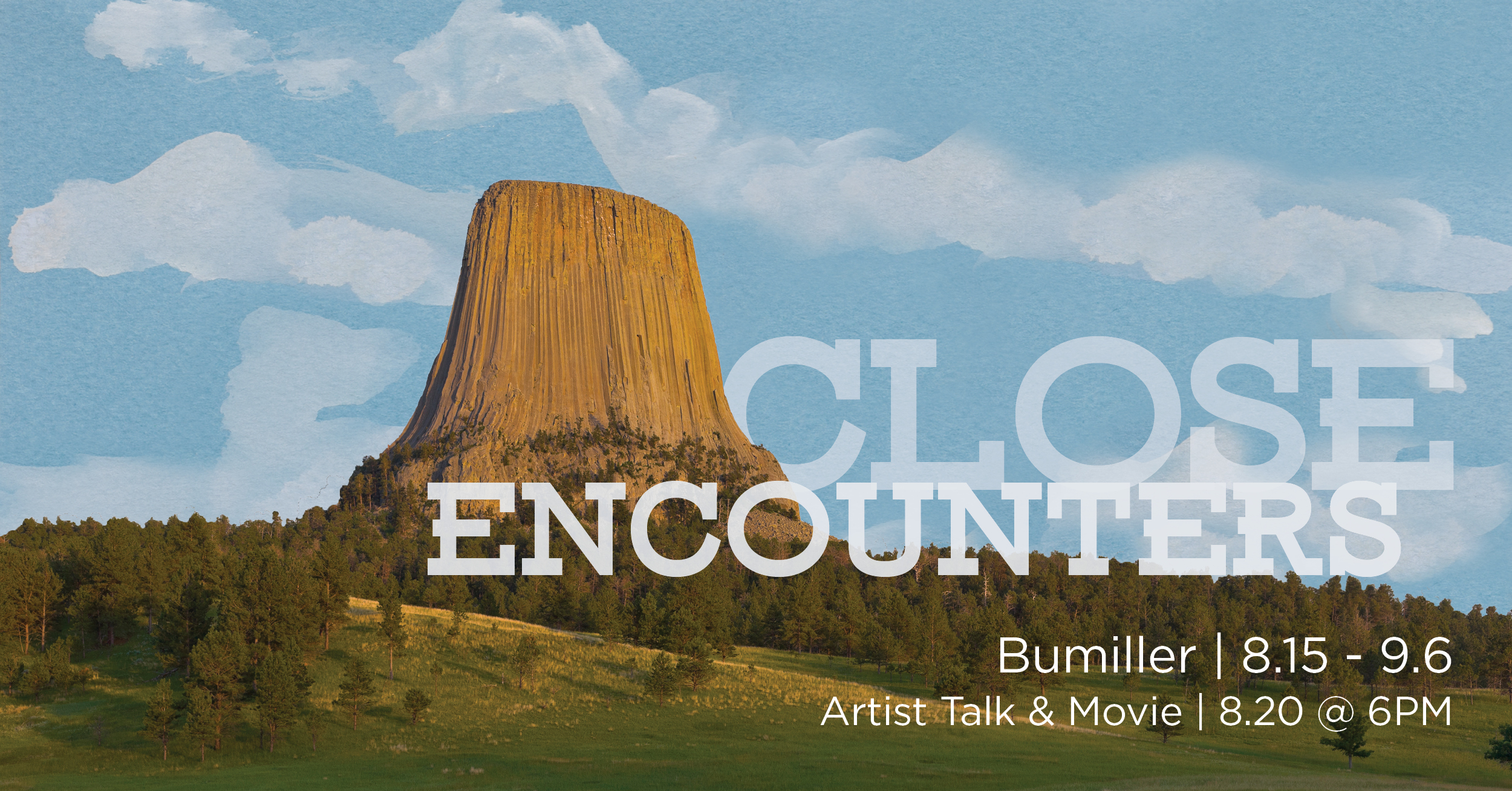 Close Encounters gallery graphic, Trine Bumiller, August 15 through September 6